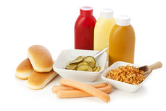Hot Dog Ingredients Royalty Free Stock Photo