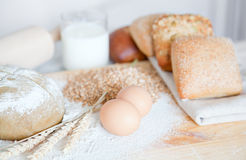 Ingredients for dough Royalty Free Stock Photo