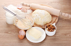 Ingredients for the dough Royalty Free Stock Photo