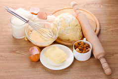 Ingredients for the dough Royalty Free Stock Photography