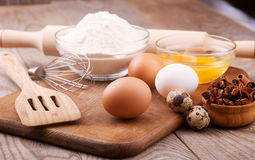 Ingredients for the dough Stock Images