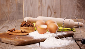 Ingredients for the dough Stock Photos