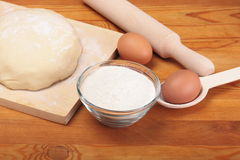 Ingredients and dough Stock Images