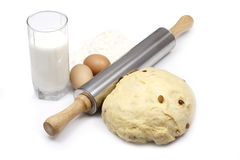 Ingredients for the dough and the finish Stock Images