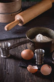 Ingredients for dough making Stock Image