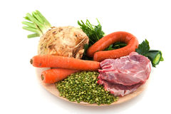 Ingredients Dutch pea soup Stock Image