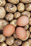Ingredients for eggs and chips (UK) / fries (US) Royalty Free Stock Photography