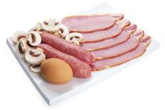 Ingredients for English Breakfast Royalty Free Stock Photography