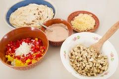 Ingredients for fajita Stock Image