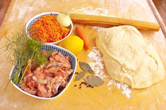 Ingredients for fish pie Stock Images