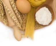 Ingredients fo pasta Stock Image