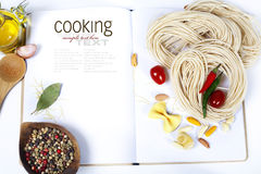 Ingredients fof making Italian Pasta Stock Images