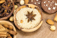 Free Ingredients For Baking Christmas Cookies Stock Image - 34206491
