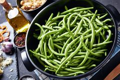 Free Ingredients For Green Bean Casserole On A Table Royalty Free Stock Images - 160199649