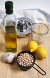 Ingredients For Hummus Stock Images