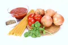 Ingredients For Italian Sauce Royalty Free Stock Photos