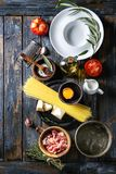Ingredients For Pasta Stock Photography