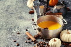 Free Ingredients For Pumpkin Latte Stock Photography - 103320962