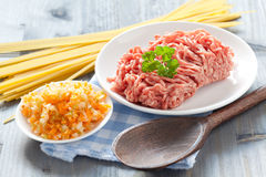Ingredients For Sauce Bolognese Stock Image