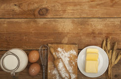 Ingredients For The Preparation Of Bakery Products Stock Photography
