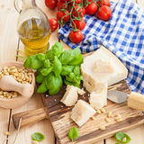 Ingredients for fresh pesto Stock Images
