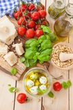 Ingredients for fresh pesto Royalty Free Stock Photography