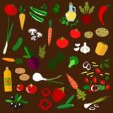 Ingredients of fresh vegetable salad Stock Images