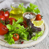 Ingredients for fresh vegetable salad Royalty Free Stock Photo