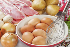 Ingredients for Frittata Stock Photography