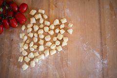 Today, gnocchi! A very good Italian food! royalty free stock images