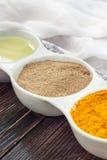 Ingredients for golden paste Stock Photos