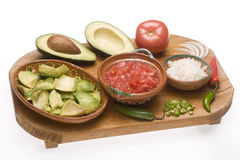 Ingredients for guacamole Stock Image