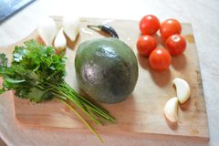 Ingredients for Guacamole - delicious royalty free stock images