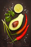 Guacamole ingredients. Stock Images