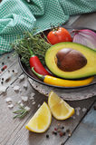 Ingredients for guacamole Royalty Free Stock Photos