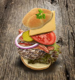 Ingredients Of Hamburger Royalty Free Stock Photo