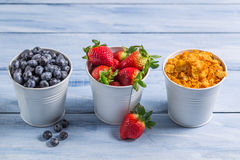 Ingredients for a healthy breakfast Royalty Free Stock Image