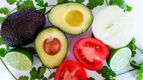 Guacamole ingredients. Healthy and delicious Royalty Free Stock Image
