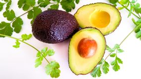 Guacamole ingredients. Healthy and delicious Stock Photography