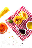 Ingredients for healthy Italian cuisine Royalty Free Stock Photos