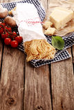 Ingredients for healthy Italian pasta Stock Photography