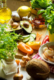 Ingredients for healthy lunch Stock Images
