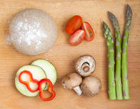 Ingredients for healthy pizza Stock Photos