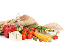 Ingredients for healthy spaghetti Stock Photo