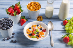 Ingredients for a healthy and tasty breakfast Stock Photos
