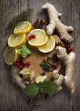 Ingredients for herbal tea on Stock Image