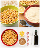 Ingredients for home made hummus Stock Photography