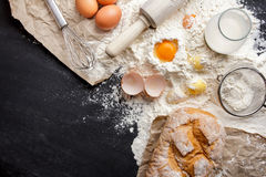 Ingredients of homemade bakery Stock Image
