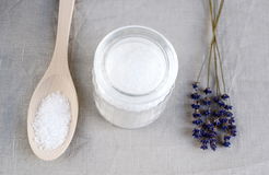 Ingredients for homemade body scrub Stock Images