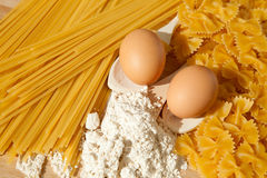 Ingredients for homemade pasta. Royalty Free Stock Images